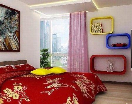 新婚卧室窗帘效果图