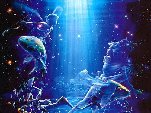 希腊星座爱情由来之双鱼座狮子座年运势神话图片