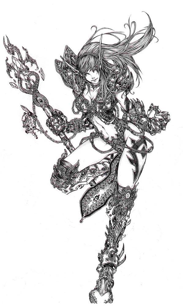 《魔兽世界》玩家手绘(一)
