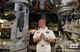 """图为""""汉普顿号""""核潜艇指挥官。"""