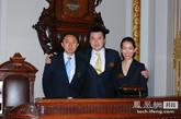凤凰新媒体CEO刘爽(中)、COO李亚(左)、CFO刘千里(右)合影。