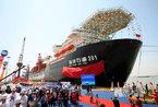 """首艘3000米深水铺管起重船""""海洋石油201""""交付"""