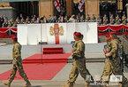 格鲁吉亚首都第比利斯举行独立20周年阅兵式(图)