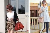 个性的豹纹短裤VS双色拼接长裤
