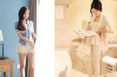 这两款式办公室女郎也能轻松穿入办公区的款式,蕾丝短裤虽短,但是更类似与裙装,搭配气质蓝色小上装,端庄而熟女味道十足。白色的紧身长裤更不用说,几乎是夏日OL人手一条的必备单品。