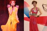 郑秀文无论是演唱会还是宣传活动,从不会甘于平淡,这种大片鲜艳色彩穿上身的大胆方式,即使是女星也没有几个人敢随便尝试。