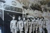 在前线播音站的女兵们