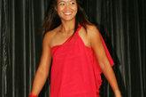 飒爽网球美女李娜私房搭配女人味十足,红色的长款斜肩礼服惊艳全场。