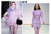 浅色花纹的丝袜也是一大流行热点,若有似无的色彩引人注目更久。