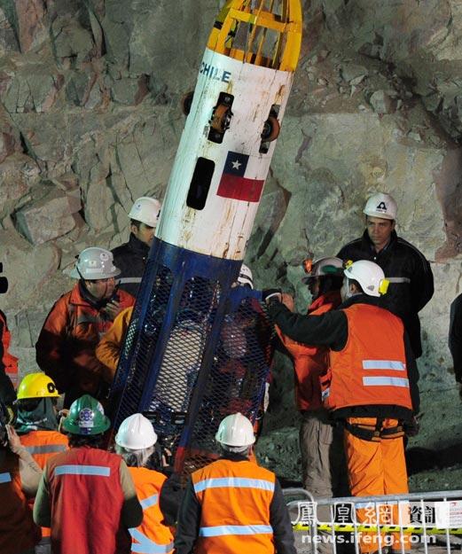 智利矿难33名被困矿工营救全记录[高清大图]