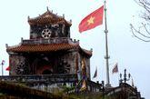 越南顺化皇城角楼。