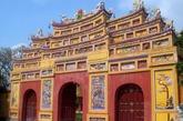 越南顺化皇城城门,保存较为完好。