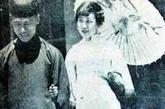 川岛芳子与其兄在天津留影。