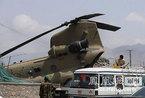 """北约""""支奴干""""大型直升机栽入喀布尔市区(图)"""