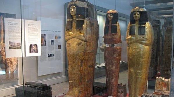埃及神秘黄金木乃伊棺椁(组图)