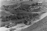 在战场上被德军击毁的BT-7坦克。