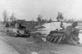 被击毁的BT-7和BT-5坦克