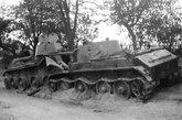 被德军击毁的BT-7坦克。
