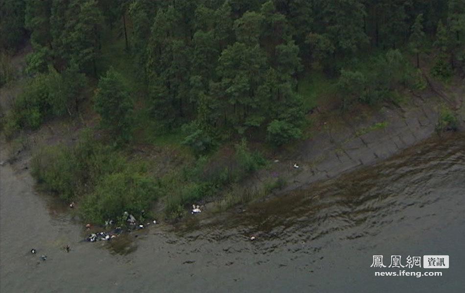 挪威岛屿屠杀事件:发现尸体