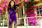 中国风的LV高开叉旗袍,展现东方古典韵味美。