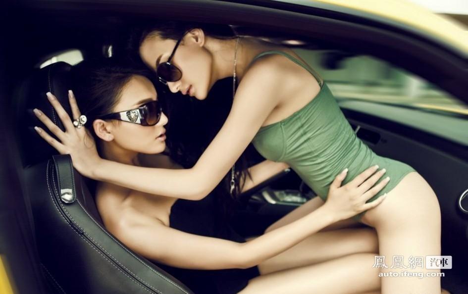 两大顶级美女与大黄蜂 汽车频道