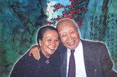 刘海粟夫妇晚年合影。