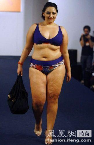 巴西时装秀邀请大码模特走秀 80%男性喜爱胖女人