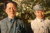 毛泽东与林彪的合影。