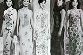 最传统的立领旗袍在领口的小改动让这四位港姐的形象也变得更优雅迷人,在旗袍上家上了深开衩设计也是1981年得一大突破,这一年的港姐旗袍装扮极富诱惑力。