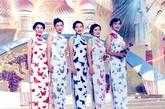 蝴蝶旗袍在这几位港姐身上展现出一种复古味道,尤其是配上整齐的卷边刘海,很有旧上海时的淑媛味道。