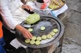 一种蔬菜做的饼,里面是玫瑰糖做的陷。青岩古镇可以买到!