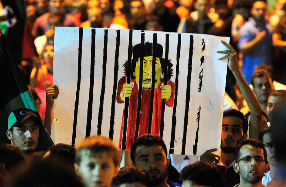 利比亚反对派控制的黎波里 班加西民众广场欢庆