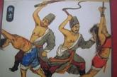 鞭击是相对轻的处罚,是将人固定好后用鞭子抽打