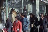 1986年的上海街头照片。