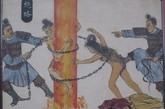 本作炮格,是一种烧烫的酷刑。用炭火烧热铜柱(格),令人爬行柱上,即坠炭上烧死。后来泛指用烧红的铁烧烫犯人的酷刑