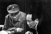 朱德(左),第二战区副司令长官兼第十八集团军总司令,上将。