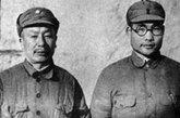 王维舟,国民革命军第十八集团军129师385旅副旅长,少将(左)。