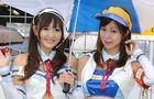 日本superGP赛车女郎 甜美性感助阵(组图)