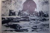被日军残忍屠杀的尸体。