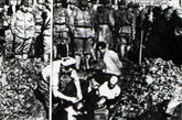 日军在活埋中国平民。