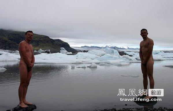 见过冬泳的 没见过在北极圈儿里练冬泳的