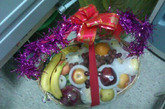 奥迪车主父母上午送来的水果。网友大鼓励 摄