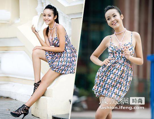 8年出生,只有13岁的越南美少女HoangBaoTranLe身高1.72米,相