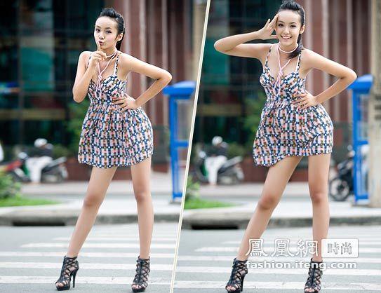 很难看出,这位性感曼妙的模特竟然只有13岁.这位来自越南年仅13