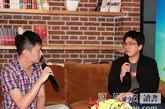 聂永真和马世芳在凤凰网读书会现场