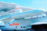 """""""鹰击-81""""空对舰导弹,采用固体燃料发动机,装备""""飞豹""""等攻击飞机。"""