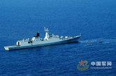 """054型护卫舰的首舰""""马鞍山""""号"""