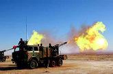 某新型122毫米车载式自行榴弹炮