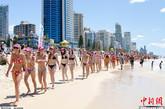 澳洲一海滩比基尼女郎成灾,男人看到麻木。澳洲女孩喜欢游泳冲浪,夏天的海滩是女人的天堂,也是男人的天堂。