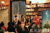阿乙,叶三和王小山在凤凰网读书会现场